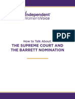 How To Talk About the Supreme Court and the Barrett Nomination