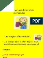 Reglas para el uso de las letras may_sculas I.ppt