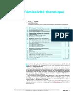 Tempeجپrature de surface, Mesure de l'eجپmissiviteجپ thermique.pdf