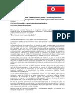 DISCURSO DE APERTURA - COREA DEL NORTE - MUÑ