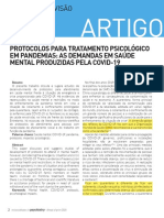 ZWIELEWSKI, Protocolos para tratamento psicológico em pandemia