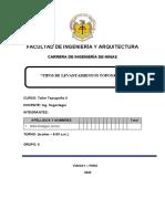 TIPOS DE LEVANTAMIENTOS TOPOGRAFICOS