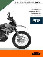 Manuale KTM 690 Enduro 2008