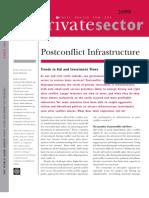 Post-conflict infrastructuretrends