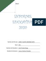 Kínder. Informe Educativo 1er semestre Dario Cardenas