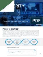 Centerity CyberOps - Cyber Observability Brochure - September 2020