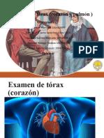 Examen de tórax Corazón y pulmón