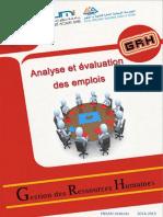 Analyses des emplois
