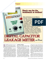 Digital Capacitor Leakage Meter