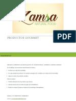 CATALOGO ZAMSA NATURAL FOOD