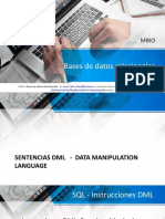 Lenguaje SQL - Sentencias de tipo DML