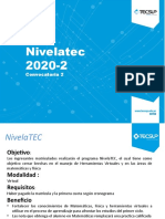 PRESENTACION PROCESO DE ADMISION NIVELATEC 2020-2 FINAL