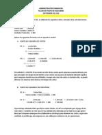 TALLER PUNTO DE EQUILIBRIO