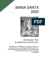 Año 2020 Homilías y predicaciones, Semana Santa.