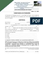certificado de posesion colores