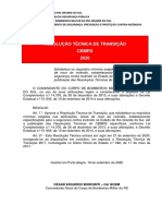 Resolução Técnica  de Transição CBMRS 2020