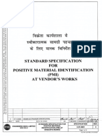 07_6-81-0001 Rev 0_SPEC STD Specification For Positive Material Identification (PMI) At Vendors Works