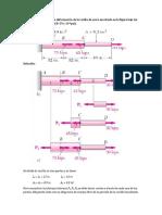 Determinar la deformación de la varilla de acero mostrada en la figura bajo las cargas dadas