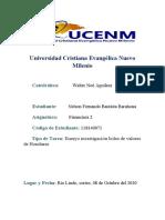 Ensayo investigación bolsa de valores de Honduras , Nelson Fernando Bautista, 118140071