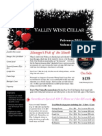 Cellar Notes - February 2011
