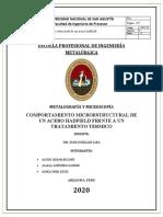METALOGRAFIA - TIF - FABRICACION DE MATRICES DE CORTE POR PULVIMETALURGIA