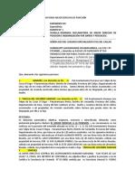 MODELO DEMANDA DECLARATORIA MEJOR DERECHO DE POSESIÓN