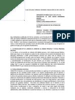 MODELO APELACIÓN AUTO QUE DECLARA FUNDADA DEMANDA OBLIGACIÓN DE DAR SUMA DE DINERO A BANCO