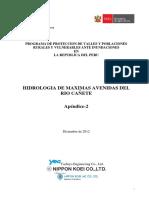 Estudio de máximas avenidas en la cuenca del río Cañete