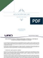 Aplicabilidad de las NIA 240
