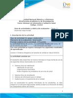 Guia de actividades y Rúbrica de evaluación Tarea 3 - Desarrollar mapa mental