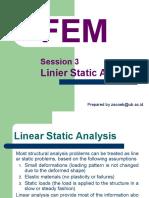 FEM3 Liniear Static Analysis.pptx