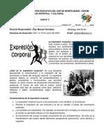 GUÍA Nª 3 - GRADO 10º - EDUCACIÓN ARTÍSTICA - 2020