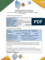 Guia de actividades y rubrica de evaluación - Paso 3 - Análisis del problema.pdf