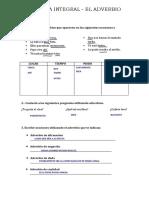 PRÁCTICA DE CLASE - ADVERBIO