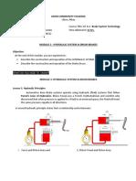 AT 311 - Module 3 - Hydraullic System & Brake Drum