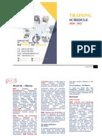 Training Calendar 2020 - 2021   BBM Training and Consulting