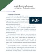 Tratamento conferido pelo ordenamento jurídico brasileiro aos direitos dos idosos