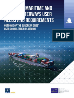 Report on User Needs and Requirements Maritime