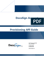 DocuSign Account Provisioning API Guide