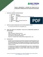 PROTOCOLO SANITARIO POR  COVID-19 v0.1 para CONTRATISTAS