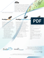 Prodigo Compnay Profile and Solutions Sheet