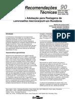 Calagem e Adubação de Pastagens de Centrosema macrocarpum