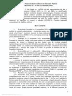Comisia Naţională Extraordinară de Sănătate Publică Hotărîrea nr. 34 din 13 octombrie 2020