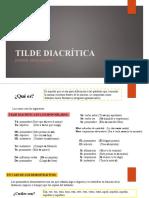 SESIÓN 04 TILDE DIACRÍTICA