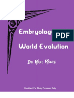 Embryology and World Evolution
