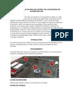 DESARROLLAR LAS RUTINAS DE CONTROL DE LOS PROCESOS DE AUTOMATIZACIÓN