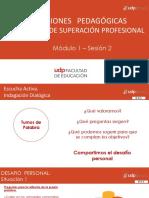 DECISIONES PEDAGÓGICAS. plan de superacion personal modulo 1 sesion 2