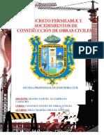 concreto permeable y Procedimientos de construcción de obras civiles
