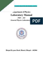 Manual PHY-103 Laboratory  Final IISER