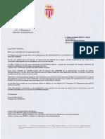 Réponse Président AS Monaco